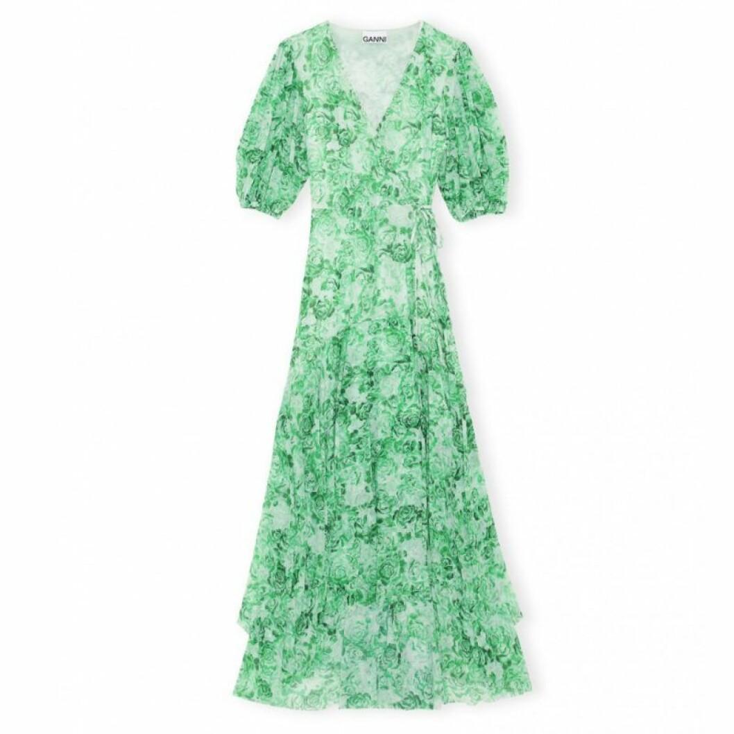 Grön ganni-klänning