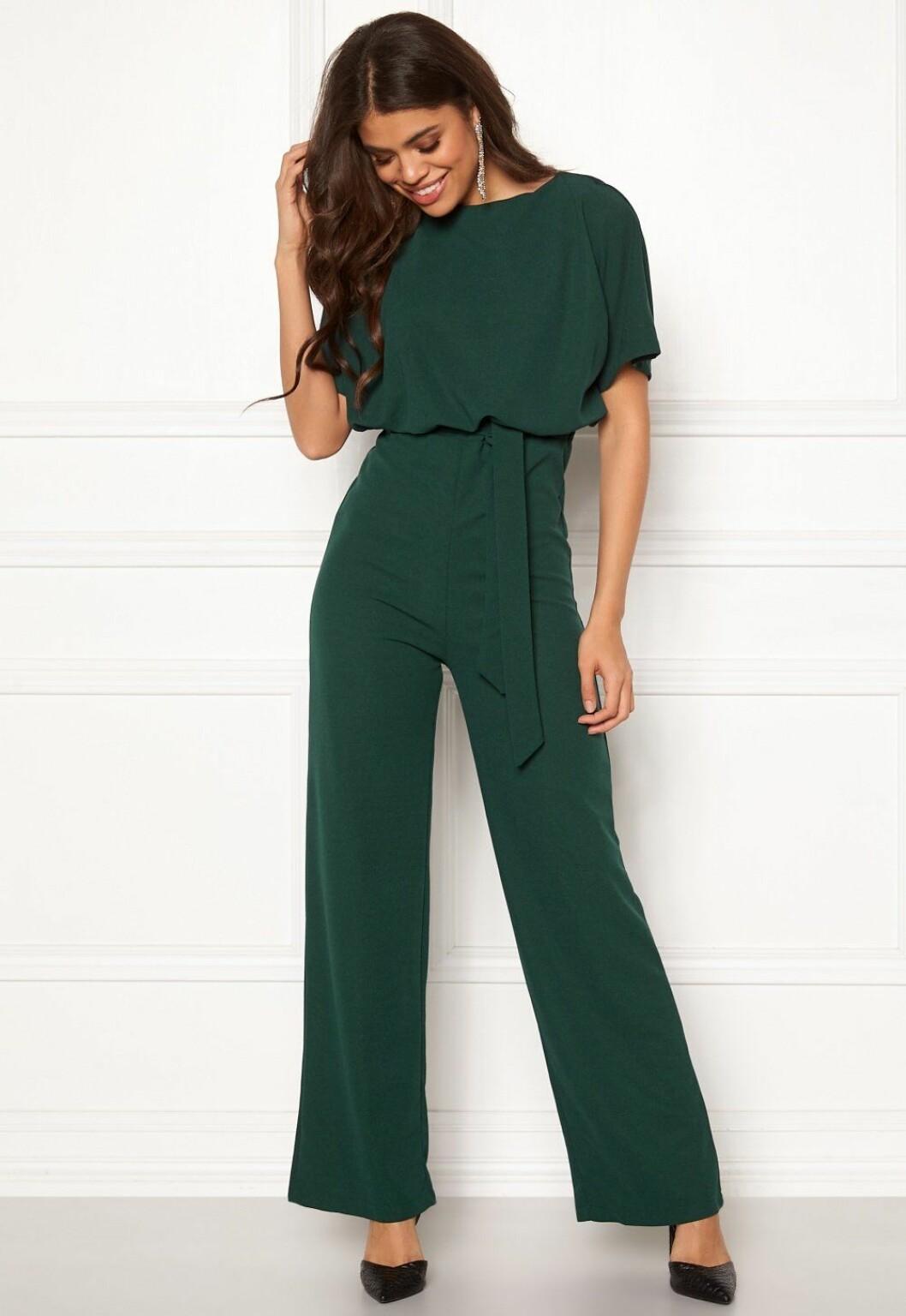 Grön jumpsuit för dam till festen