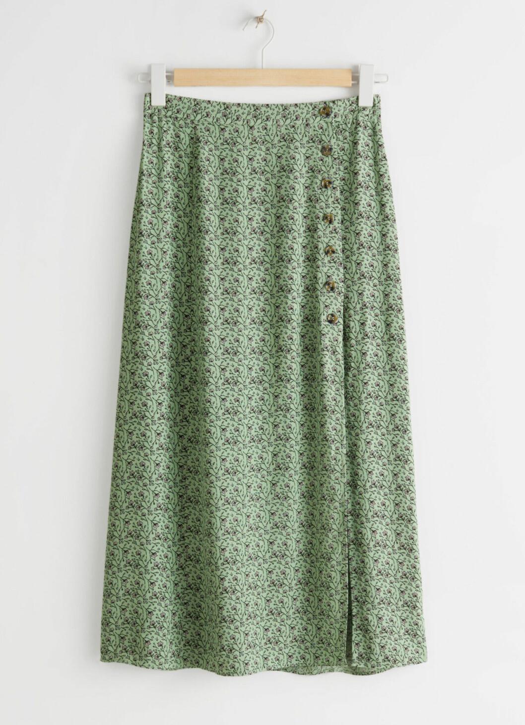 Grön kjol med slits från & Other stories