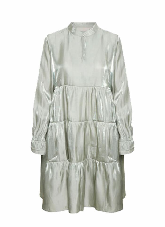 mintgrön a-linjeformad klänning frpn Karen by Simonsen