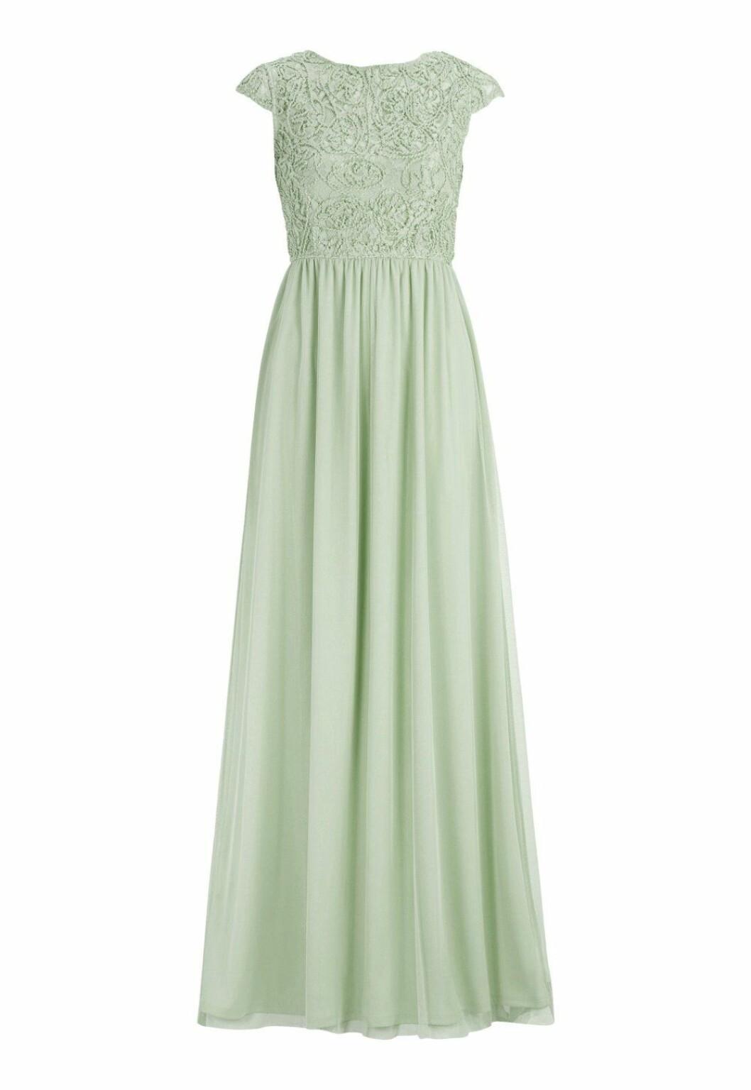 Grön billig långklänning till bröllop