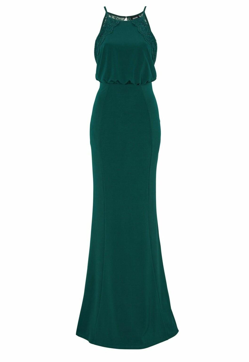 Grön klänning till brudtärnan 2020