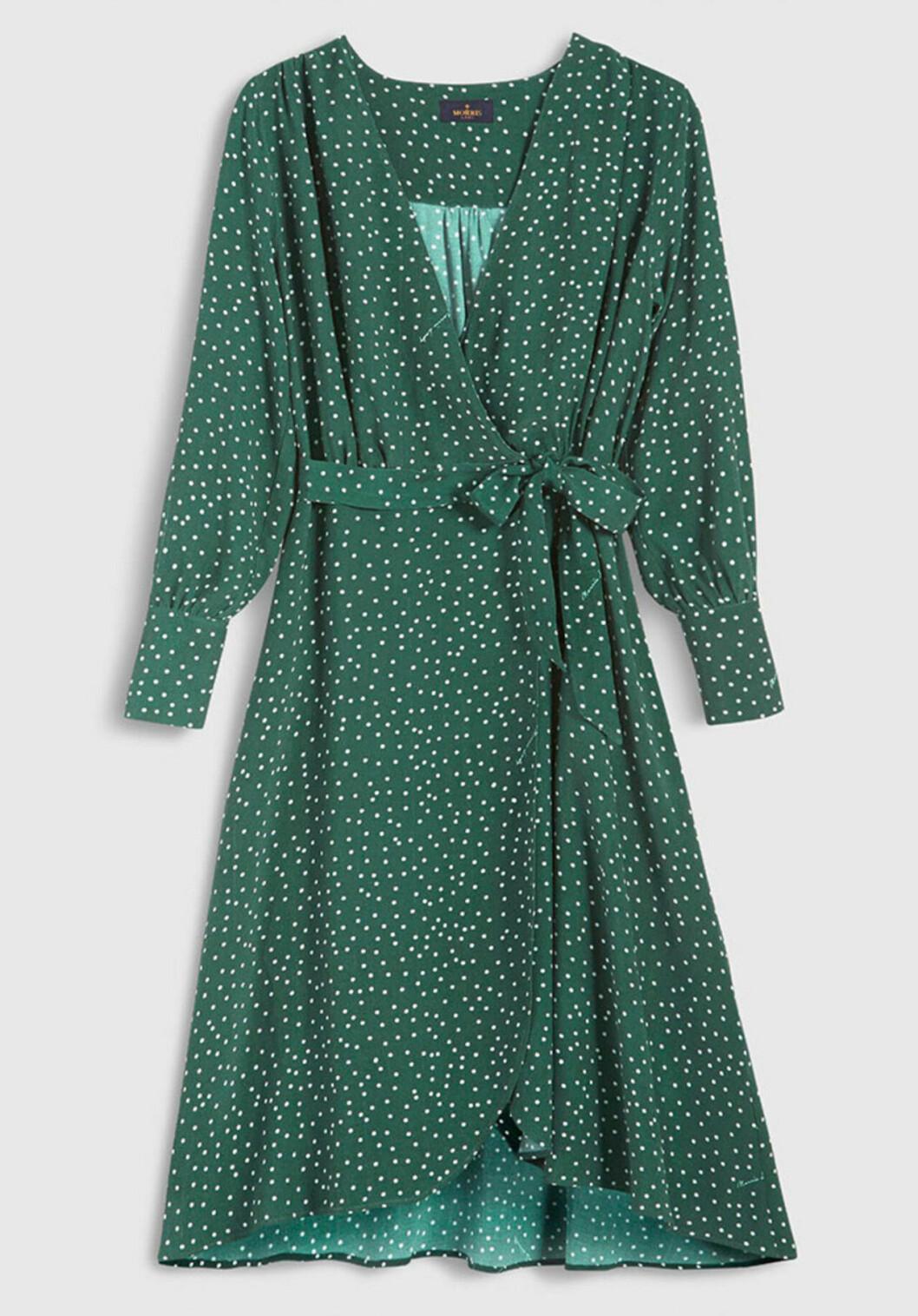 Grön klänning för dam till hösten 2019