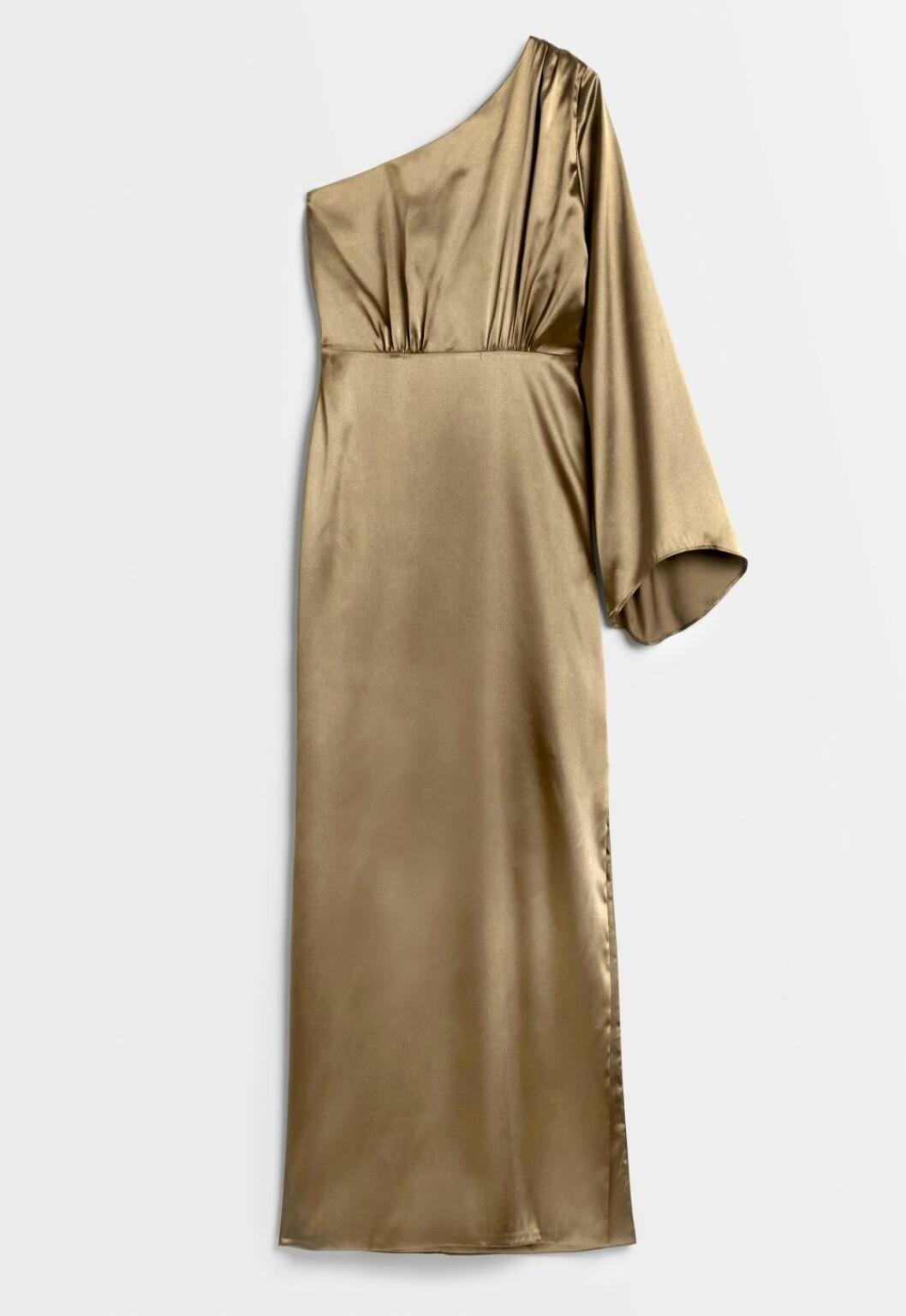 Grön klänning från Nicole Falcianis bröllopskollektion