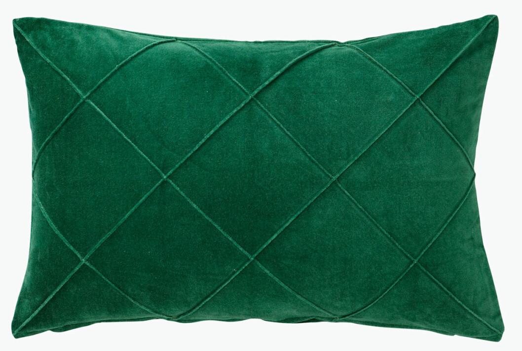 grön kudde sammet