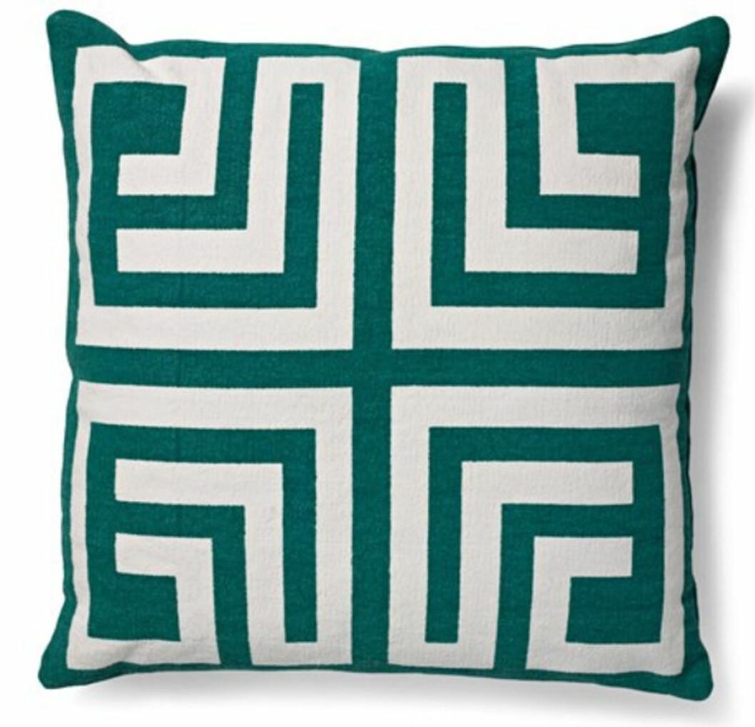 grön kudde snyggt mönster