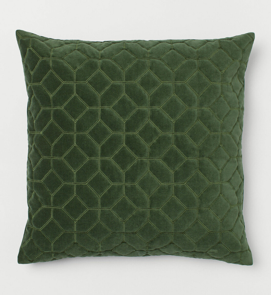 Grön kudde från H&M Home