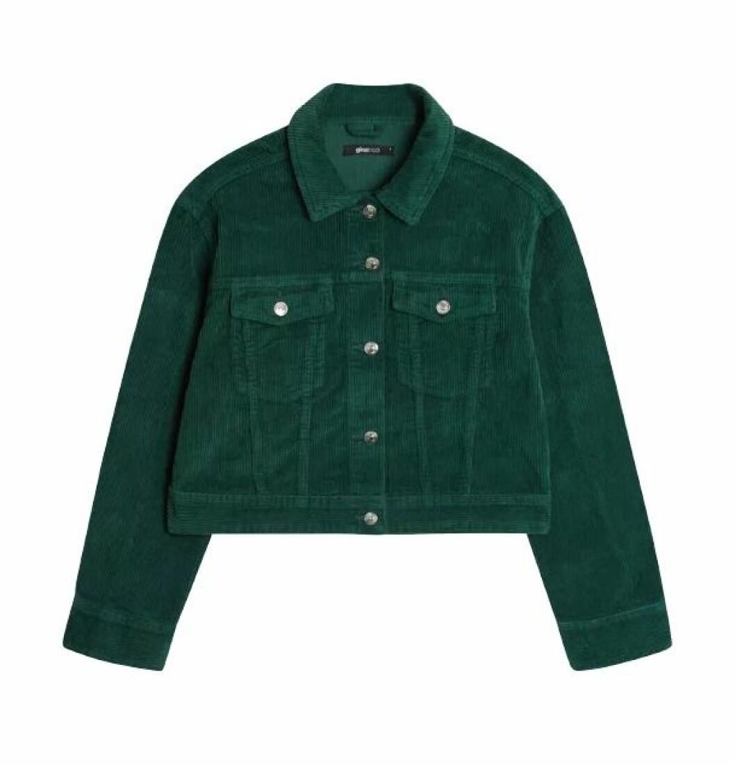 Grön manchesterjacka från Gina tricot