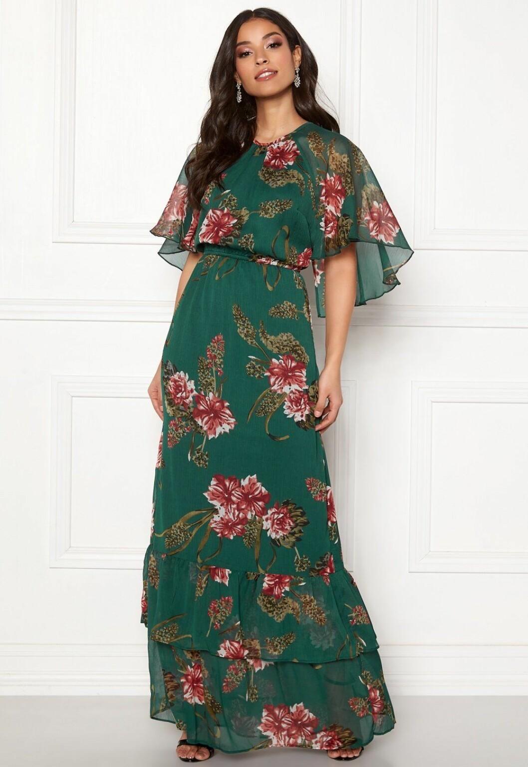 Grön maxiklänning billig till bröllop för dam 2019