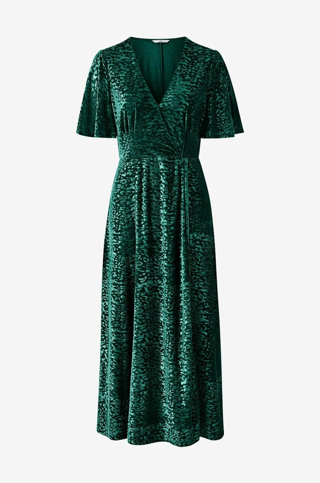 Grön maxiklänning i mjukt material för dam till 2019