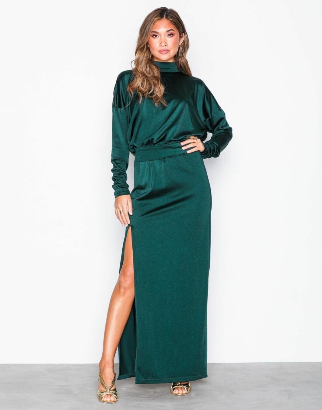Grön maxiklänning till balen 2019