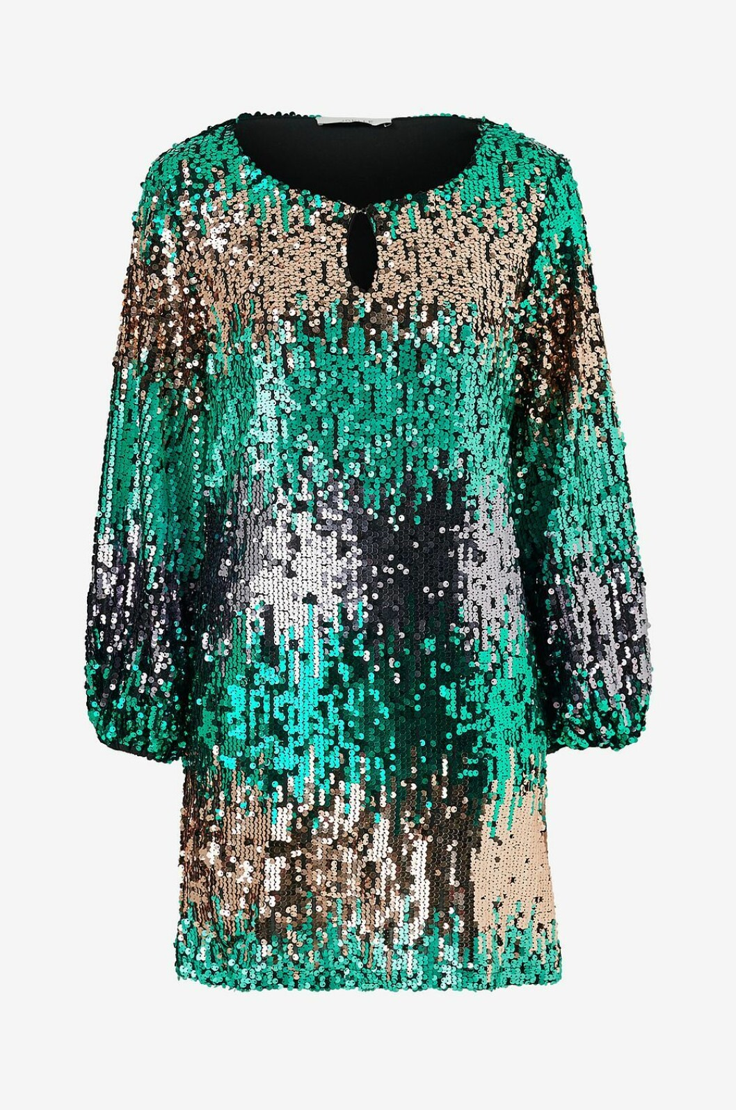 Grön paljettklänning för dam till nyårsafton 2019