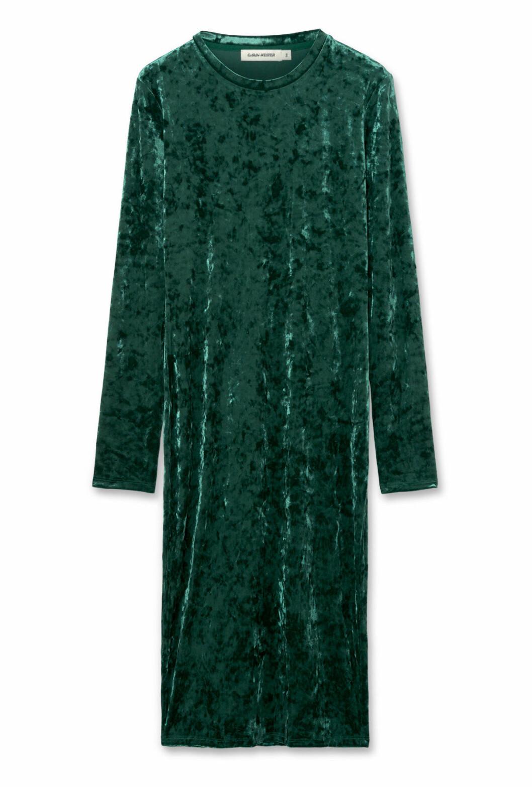 Grön sammetsklänning till nyår