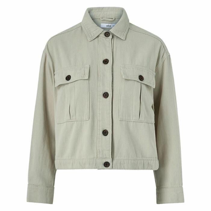ljusgrön skjortjacka