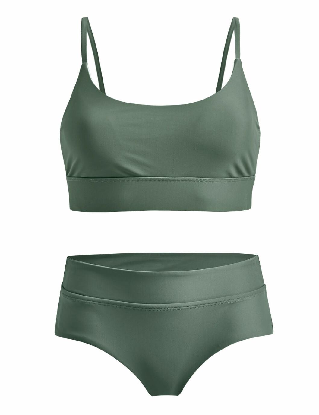 Grön skön bikini med hipstertrosa för dam till 2020