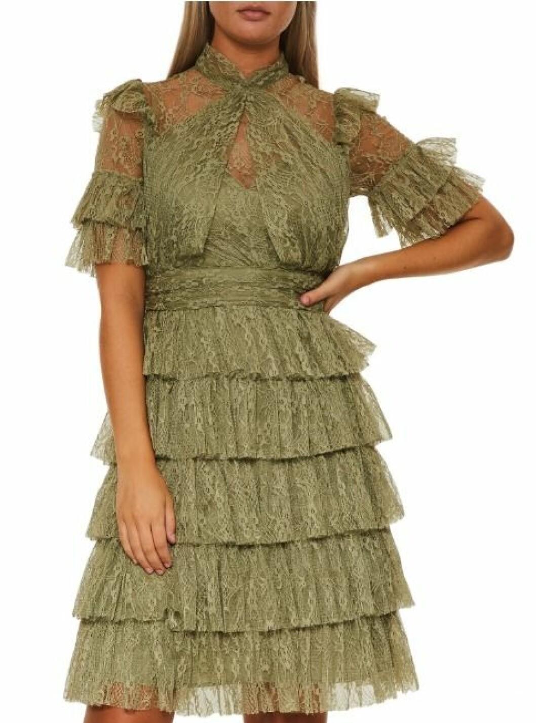 Grön spetsklänning från By Malina