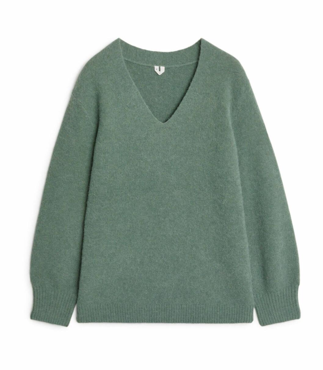 Grön stickad tröja för dam till 2020