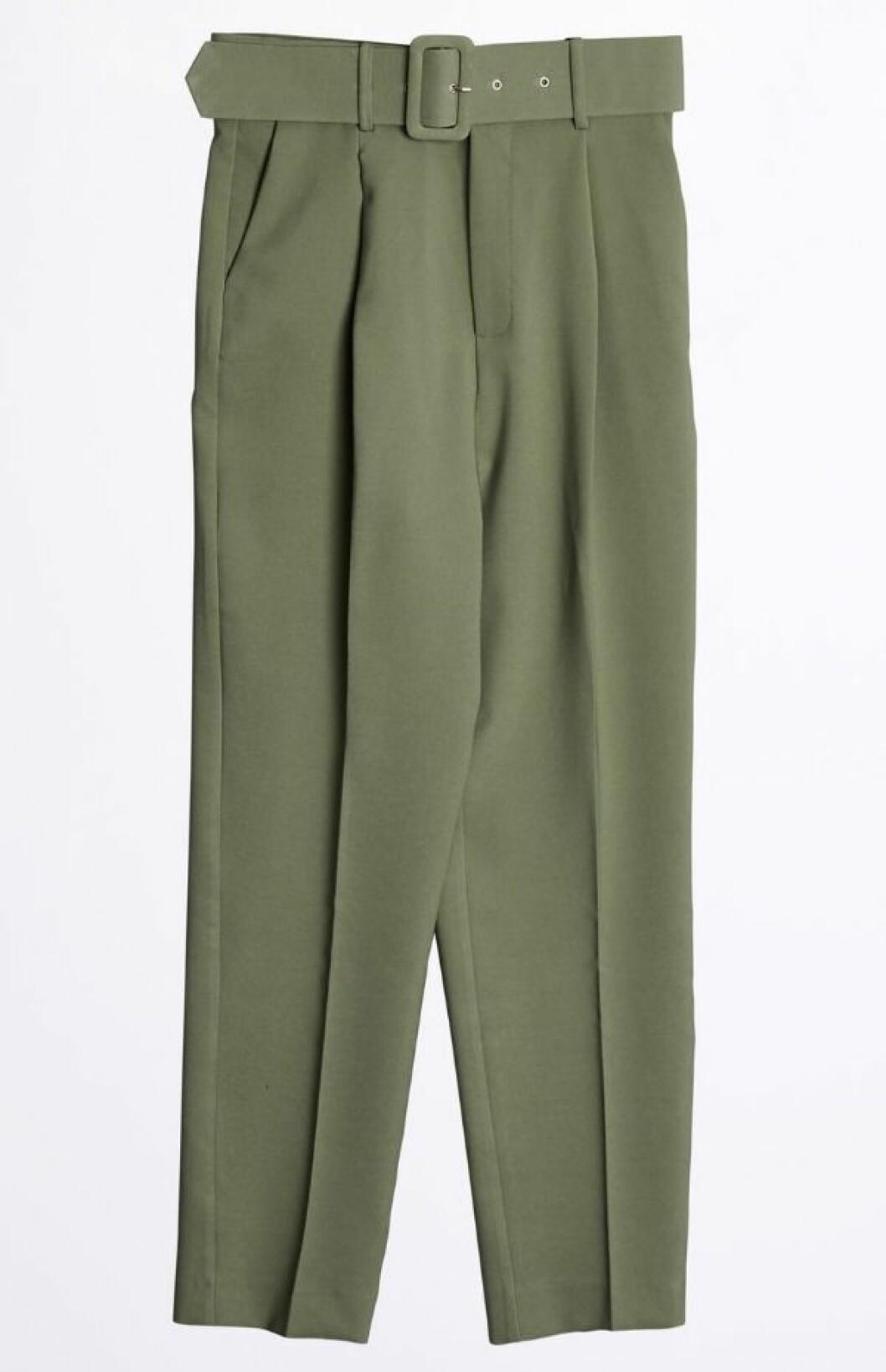 Gröna byxor med hög midja