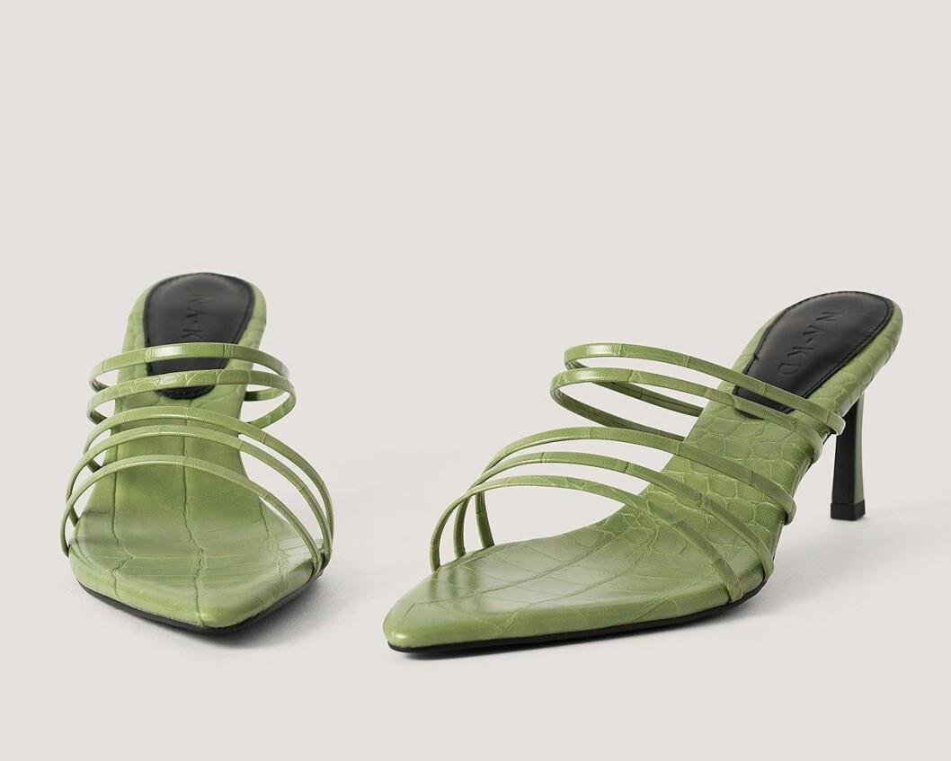 Gröna sandaletter tunna remmar för dam till 2020