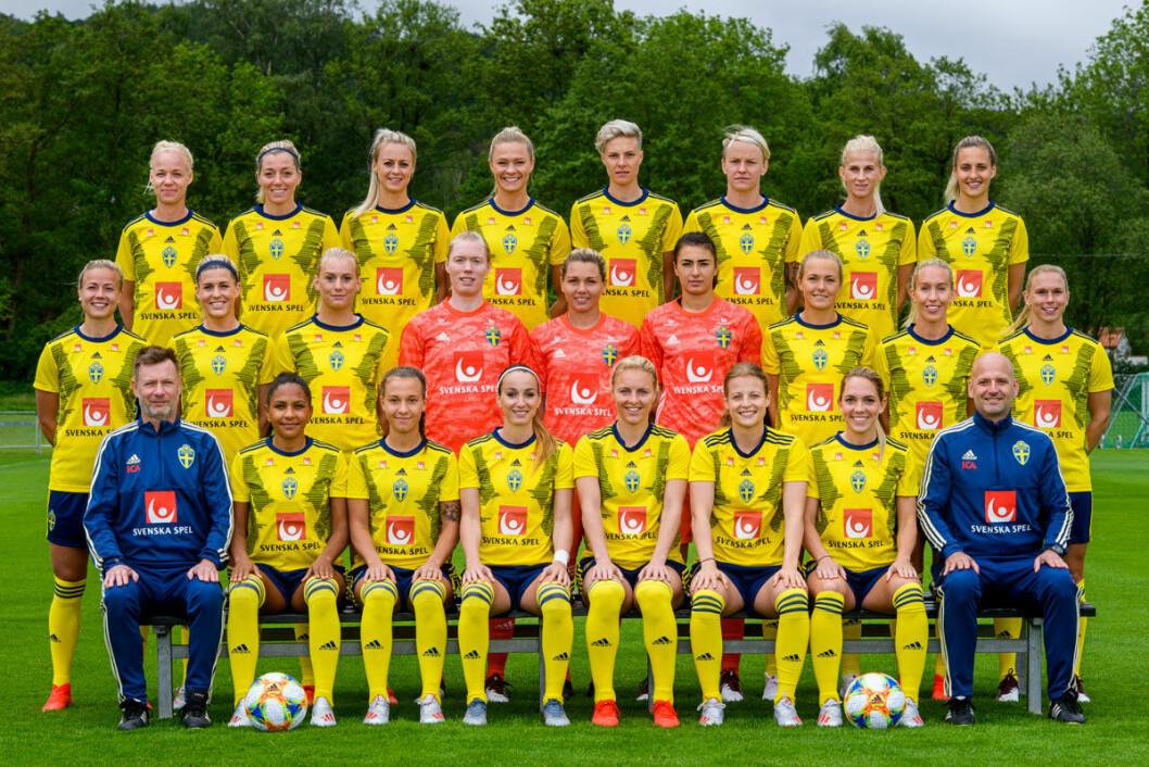 Foto: Svenska landslaget i fotboll Foto: Simon Hastegård/Bildbyrån