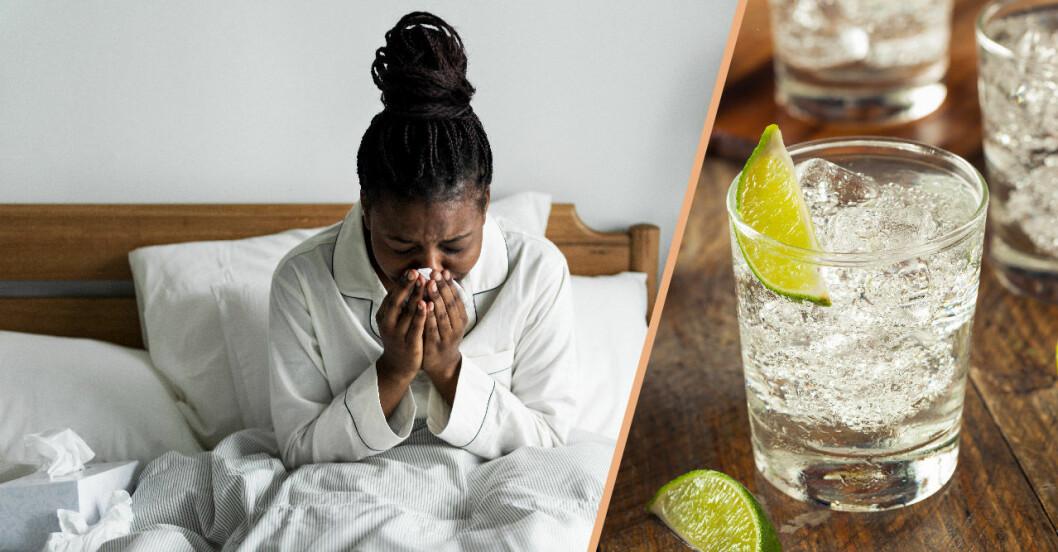 Gin och Tonic är det bästa för din pollenallergi om du dricker alkohol