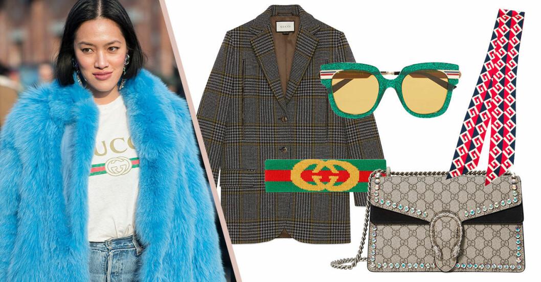 Gucci-väska och scarfs på rea