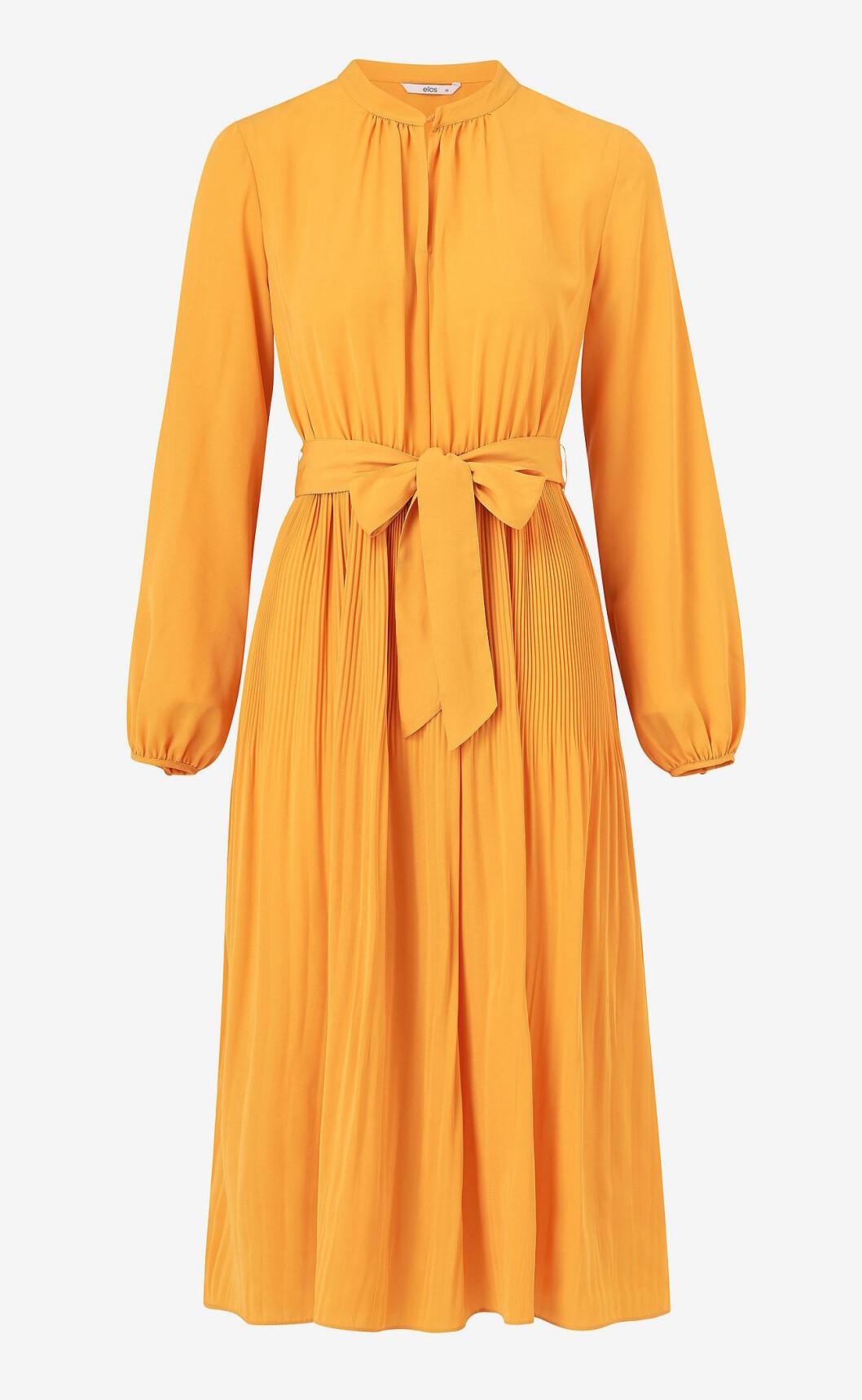 Gul höstklänning för dam till hösten 2019