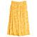 Gul vadlång kjol med resår i midjan