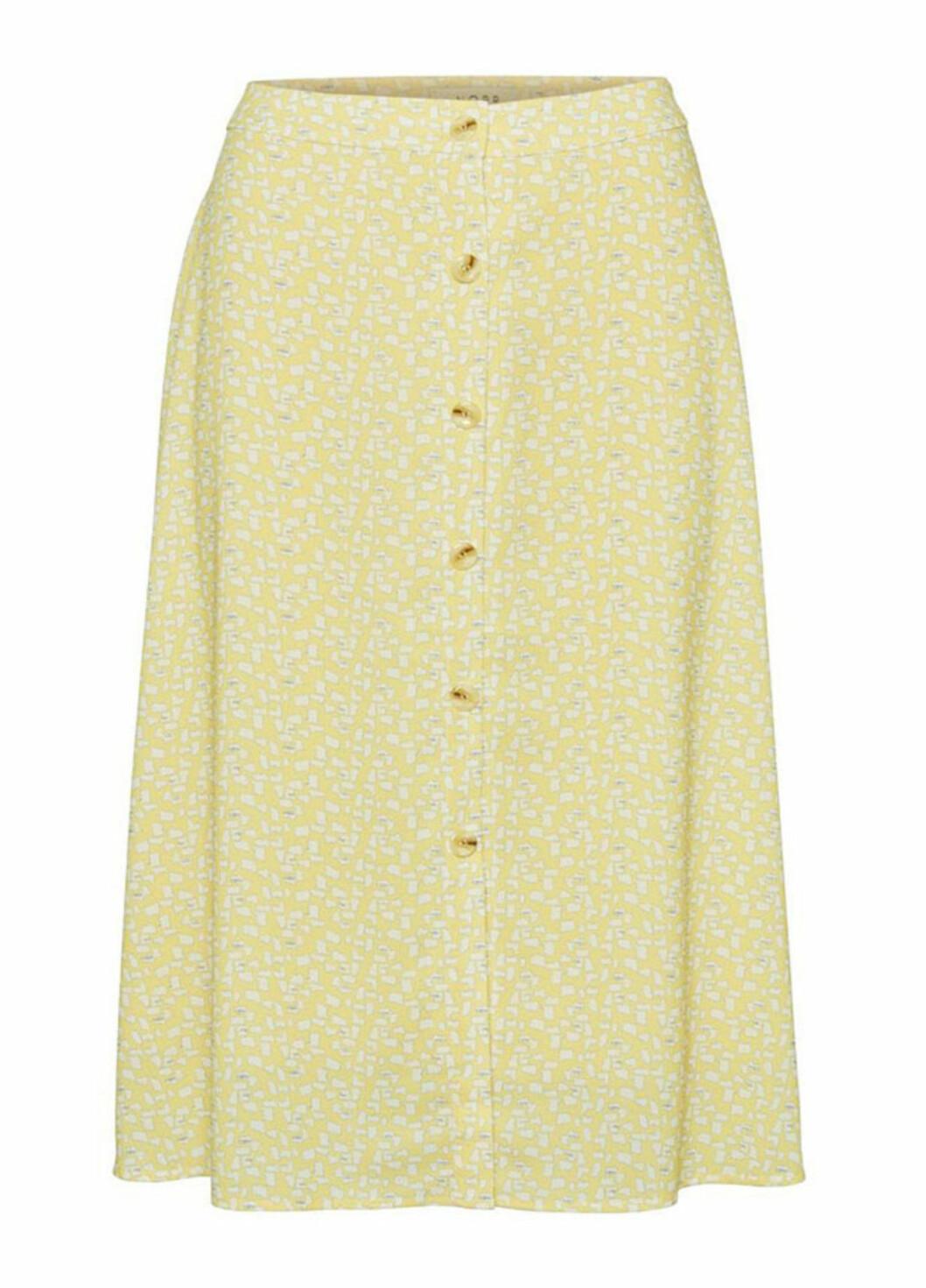gul blommig kjol för dam till 2019