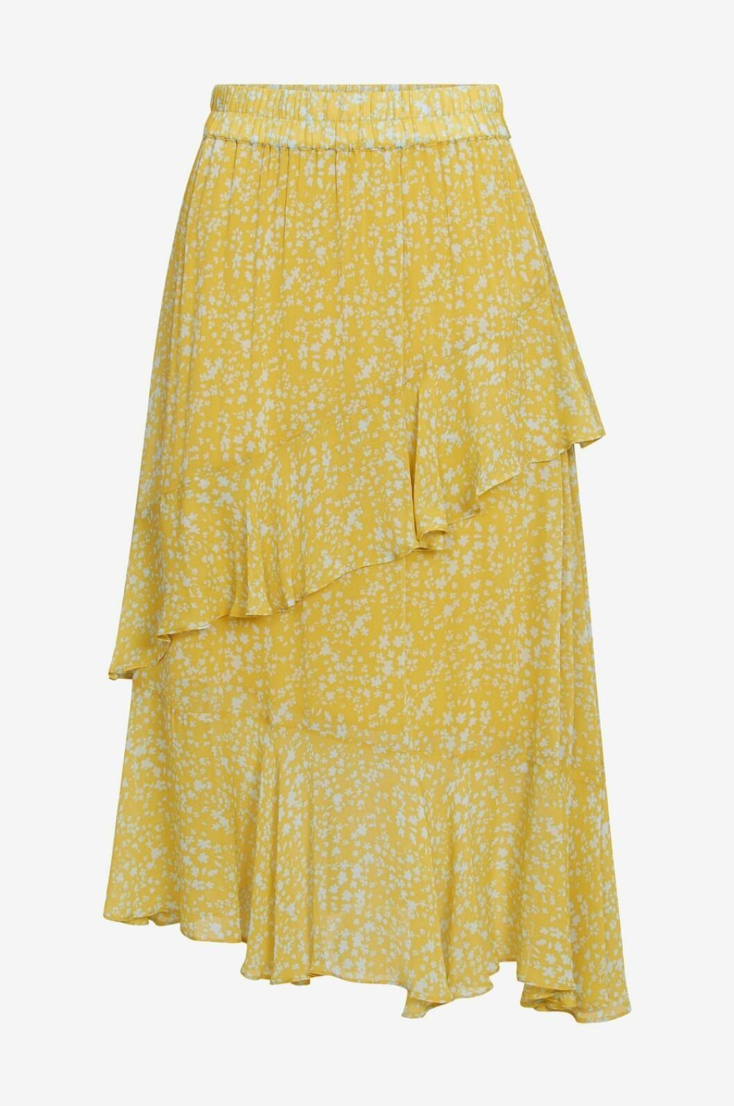 Gul kjol med volanger till 2019