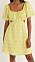 gul blommig klänning med cutout