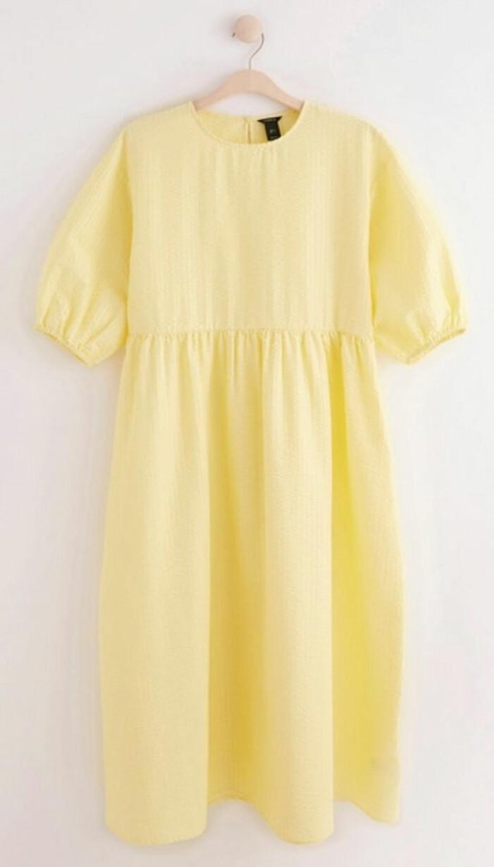 gul vid klänning till midsommar 2021