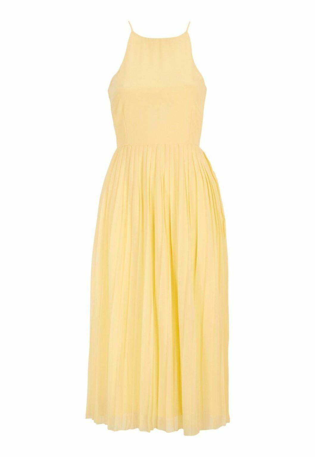 Gul klänning till bröllop som är billig