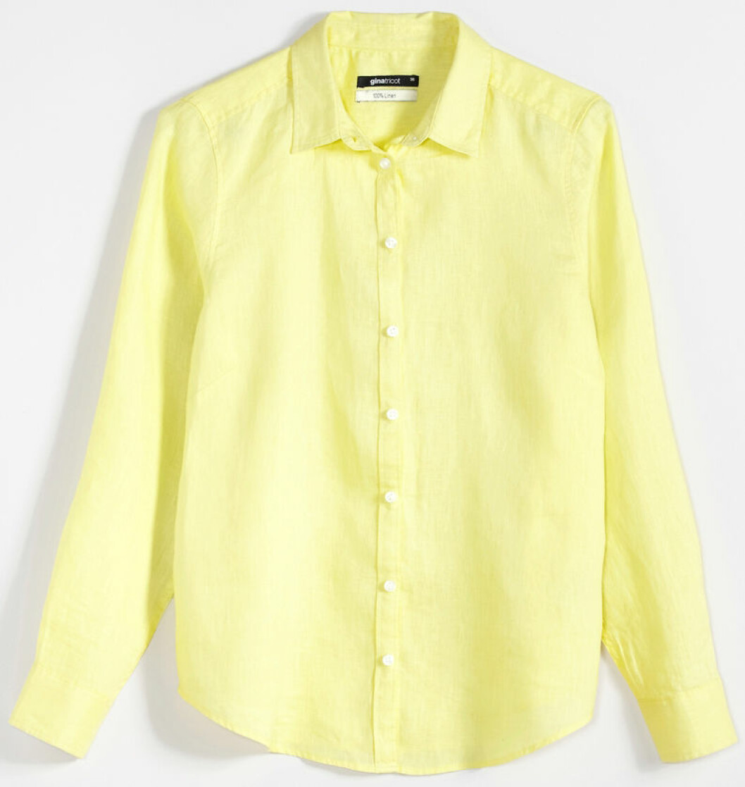 gul linneskjorta