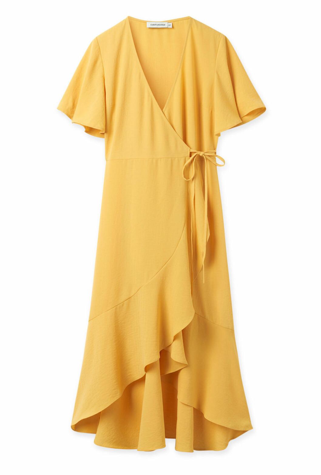 Gul omlottklänning för dam till 2019