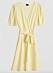 Gul omlottklänning med puffärm från Gina tricot