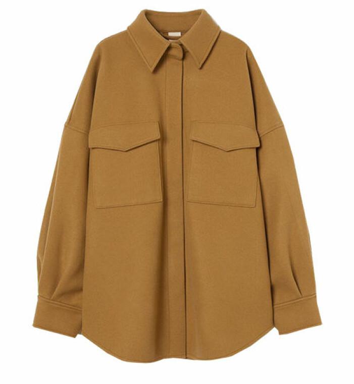 gul skjortjacka hm