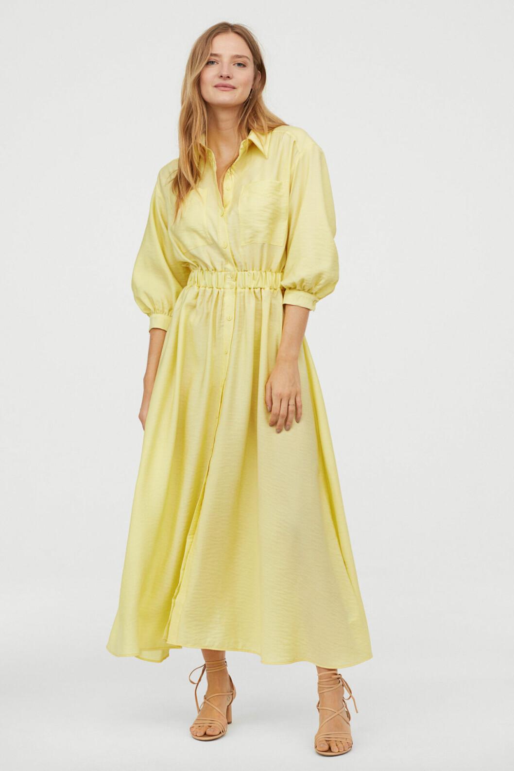Gul skjortklänning för dam till 2019