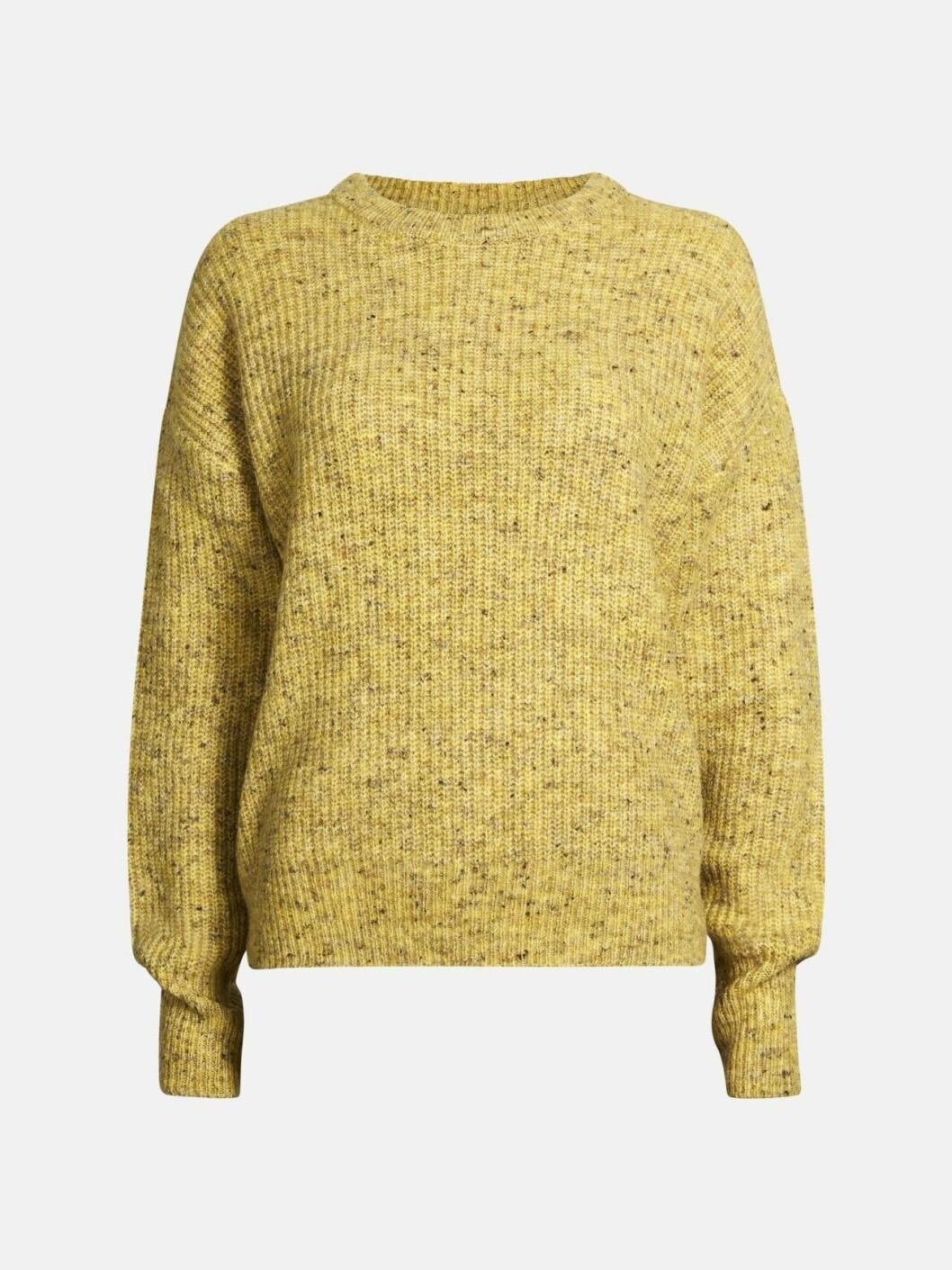 Gulmelerad stickad tröja för dam till hösten 2019