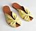 Gula sandaler med rynkade remmar för dam till 2019