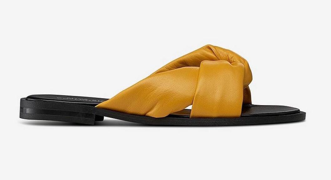 Gula sandaler med snodda remmar för dam till 2019