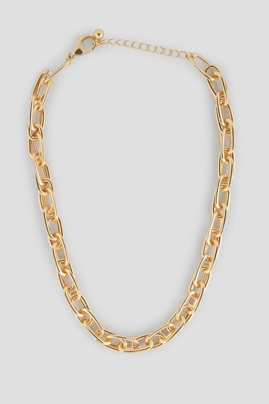 Guldfärgad halskedja för dam till 2019
