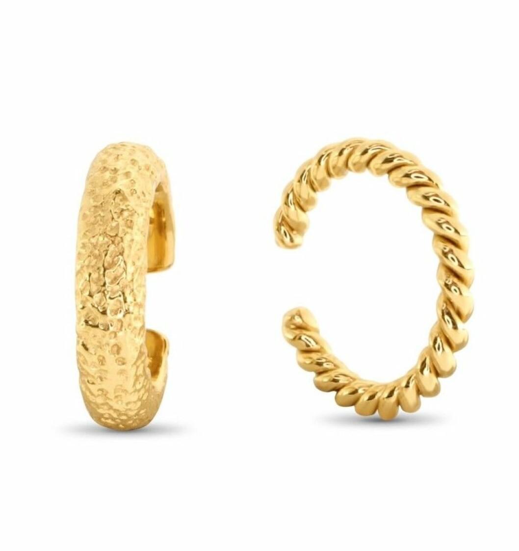 Guldfärgade earcuffs från Safira