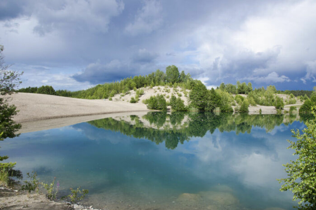 Bla lagunen Ekero i Stockholm