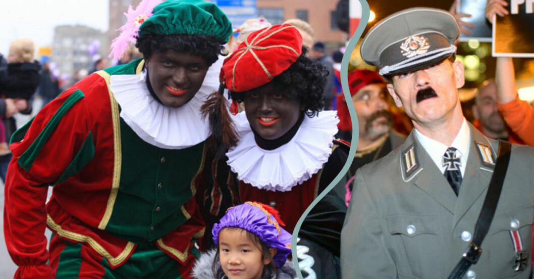Hitler och blackface är två saker som man inte ska klä ut sig till på halloween.
