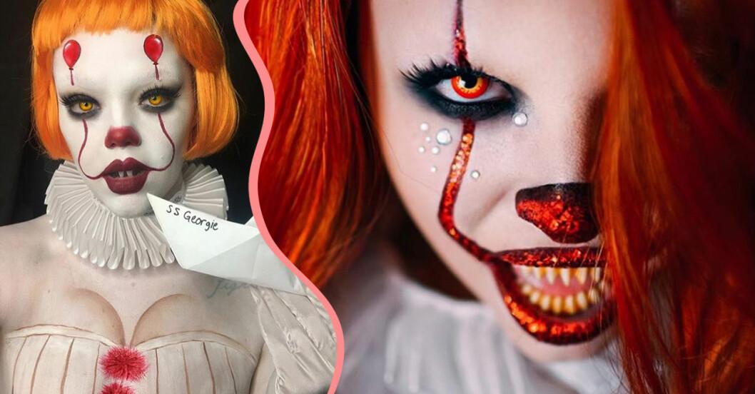 Så sminkar du dig till en läskig clown på halloween