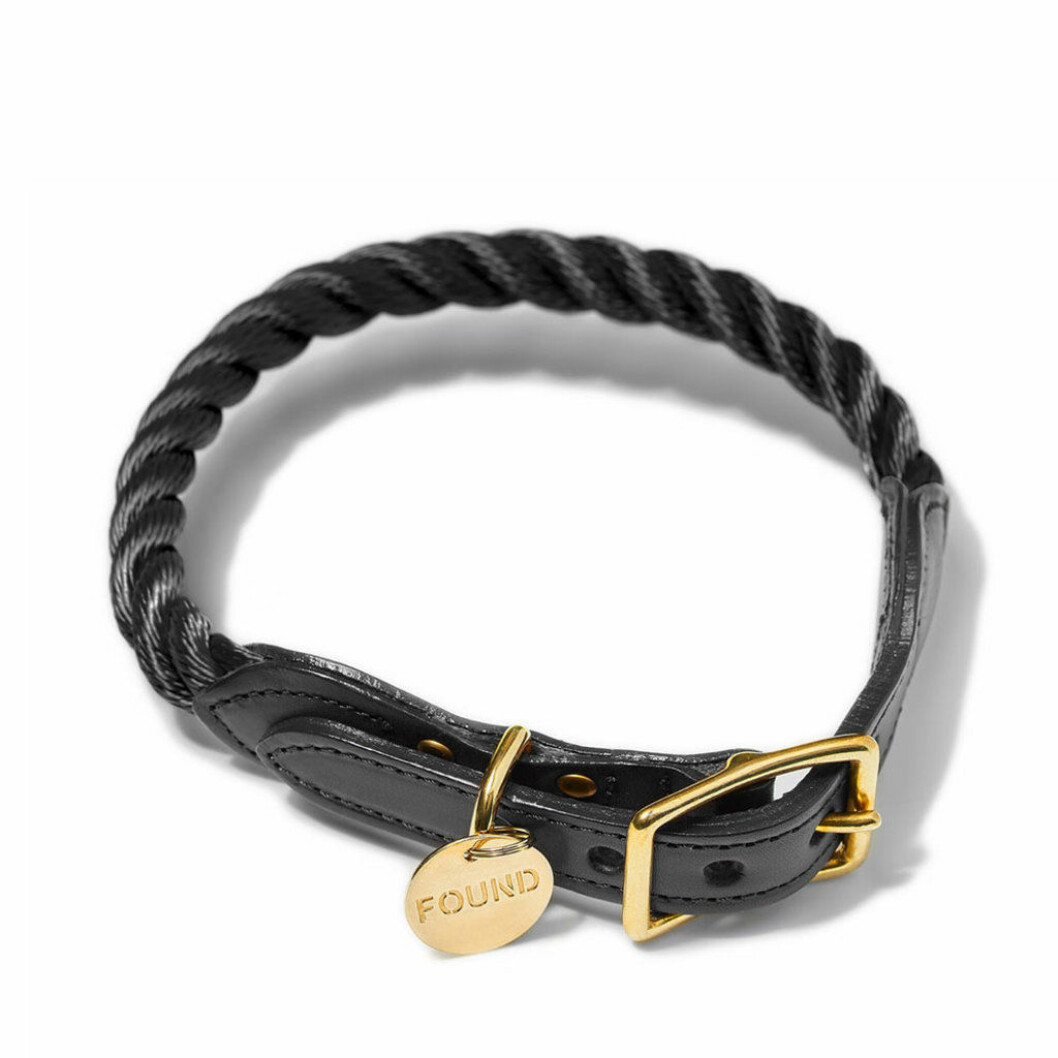 Hundkoppel svart guld