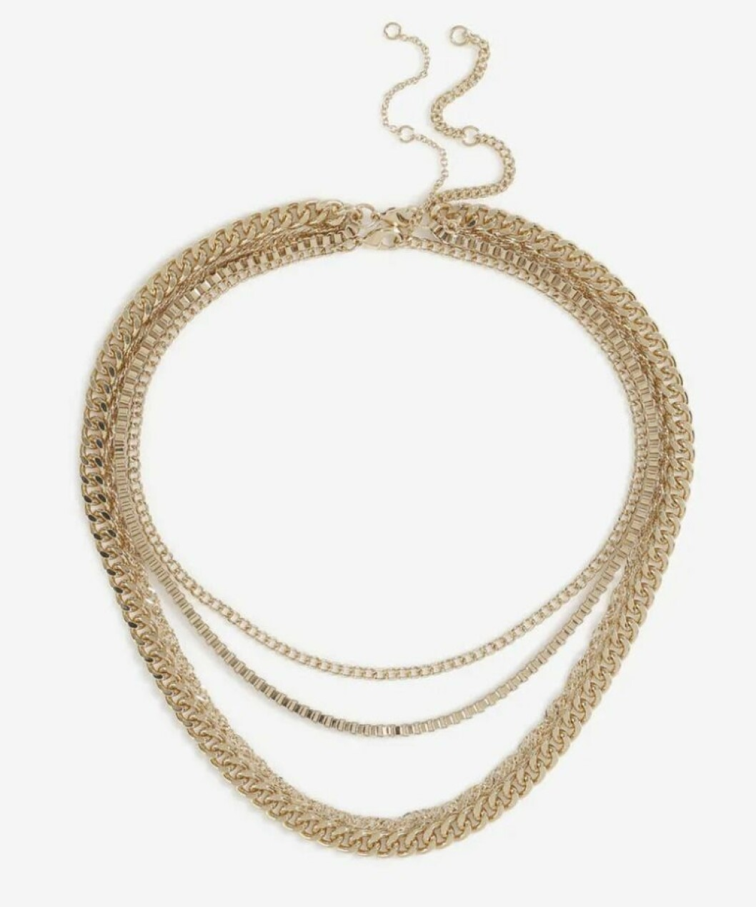 Halsband med flera lager kedjor från Gina tricot