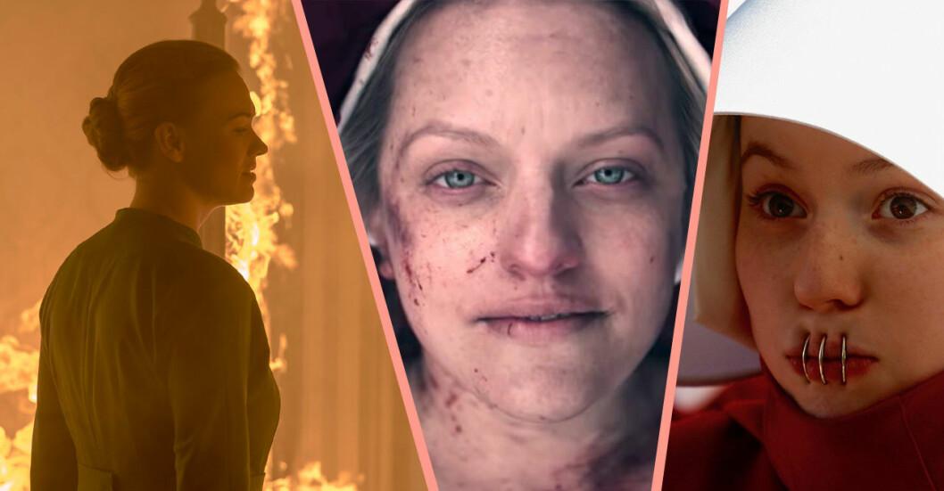 Viktiga händelser i The Handmaid's Tale säsong 3: Serena bränner ner huset, June blir skjuten och tjänarinnor förses med munringar.