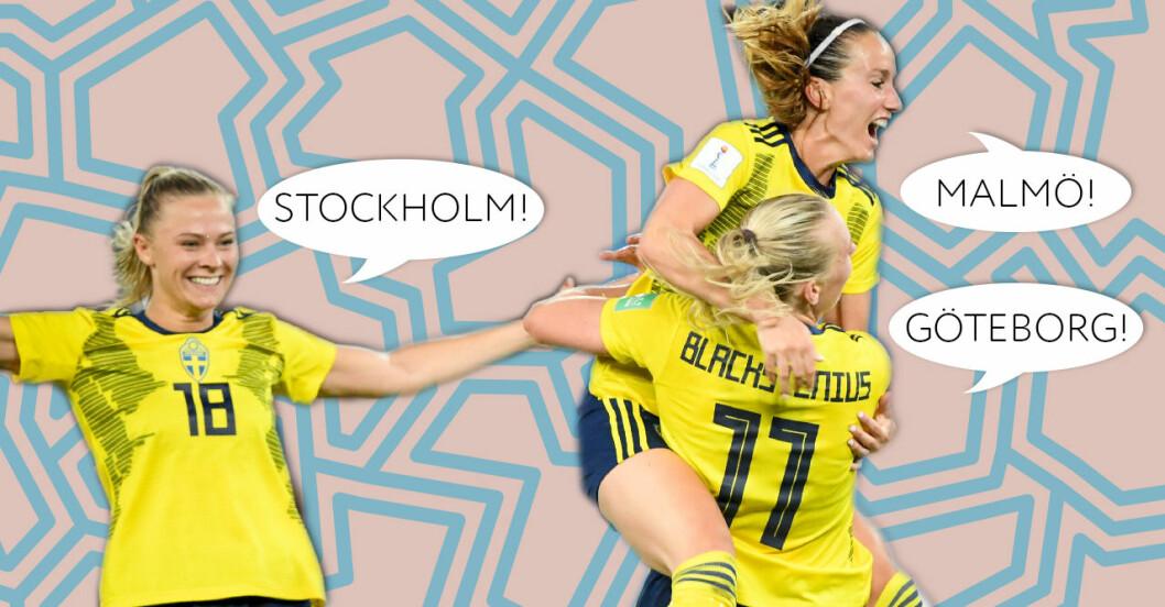 Här kan du se fotbolls-VM i Stockholm Göteborg och Malmö